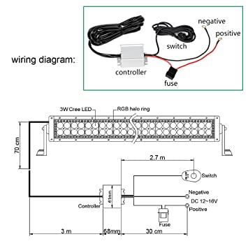 Fantastic Amazon Com White Housing Led Light Bar Nicoko 300W 52 Curved White Wiring Database Obenzyuccorg