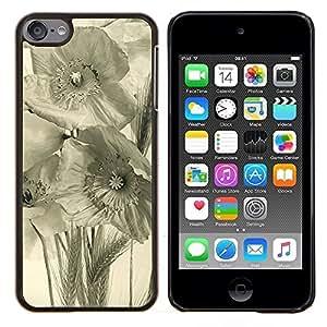 Caucho caso de Shell duro de la cubierta de accesorios de protección BY RAYDREAMMM - Apple iPod Touch 6 6th Touch6 - Arte Negro Blanco Campo Rye