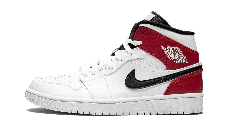 Mehrfarbig (Weiß schwarz-gym rot 116) Nike Herren Air Jordan 1 Mid Basketballschuhe