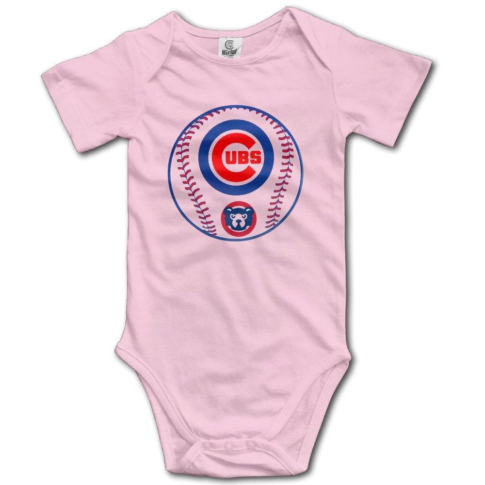 ZZYY Newborn Baby Short Sleeve Romper Bear Cub Baseball Design Tank Tops for 6-24 Months Pink