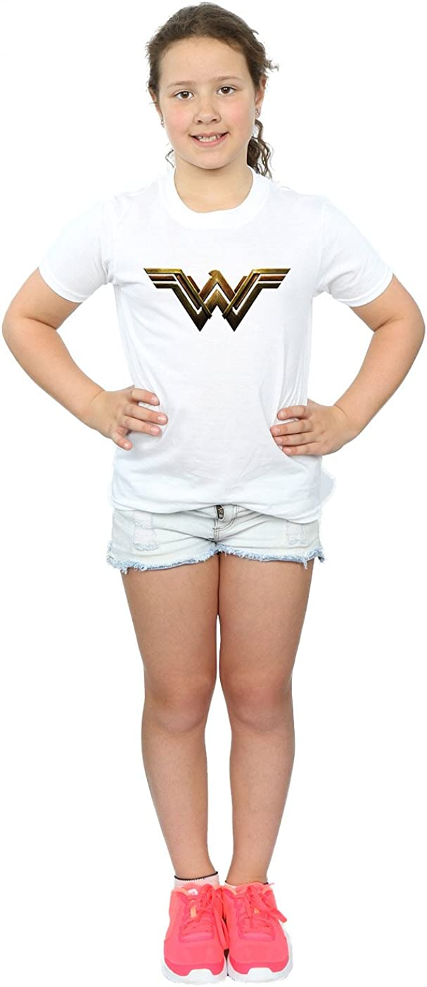 DC Comics Girls Justice League Movie Wonder Woman Emblem T-Shirt
