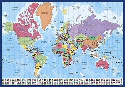 Grupo Erik Editores tsept012 –  Sottomano scuola con motivo mappa del mondo