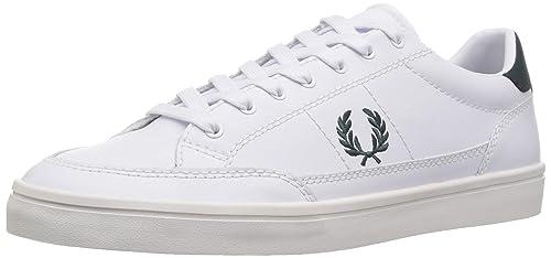 Fred Perry Deuce Hombre Zapatillas Blanco: Amazon.es: Zapatos y complementos