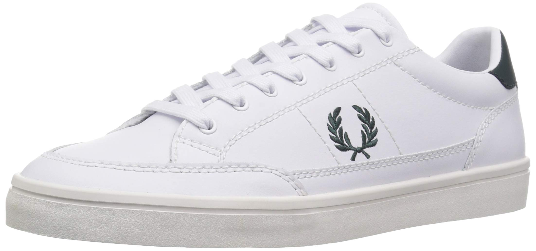 a70c9b04fcaaa Galleon - Fred Perry Men's Deuce Leather Sneaker, Dark White, 8 D UK ...