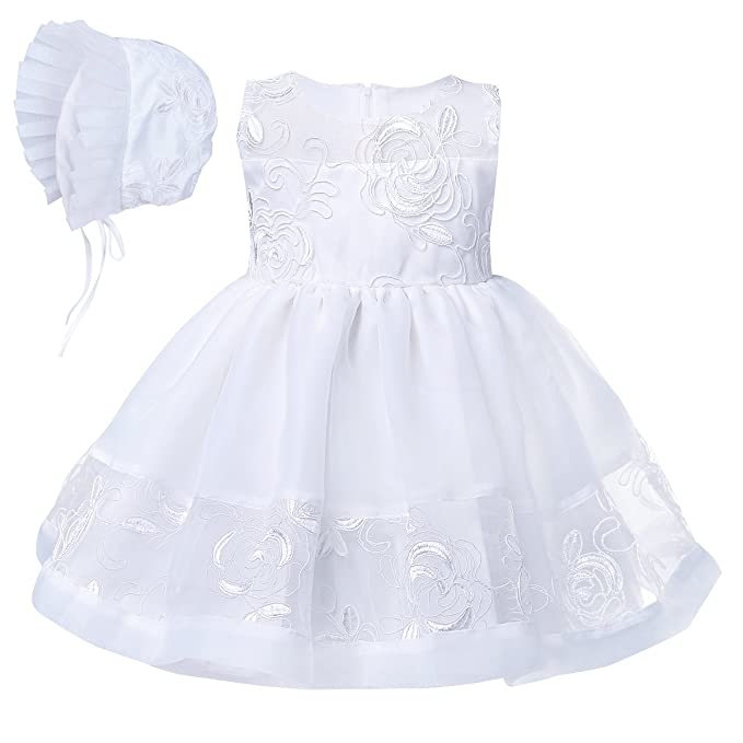 Amazon.com: YiZYiF Baby Girls Embroidered Christening Baptism Dress ...
