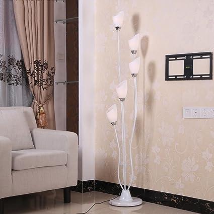 LILY Lampada da terra moderna minimalista in ferro ricurvo, lampada ...