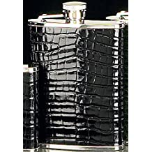 6 oz. Crocodile Leather Flask