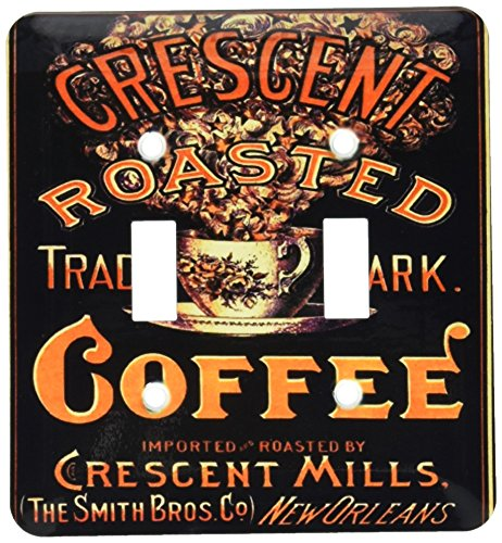 3dRose lsp_163747_2 Image of Vintage New Orleans Coffee Poster Light Switch Cover