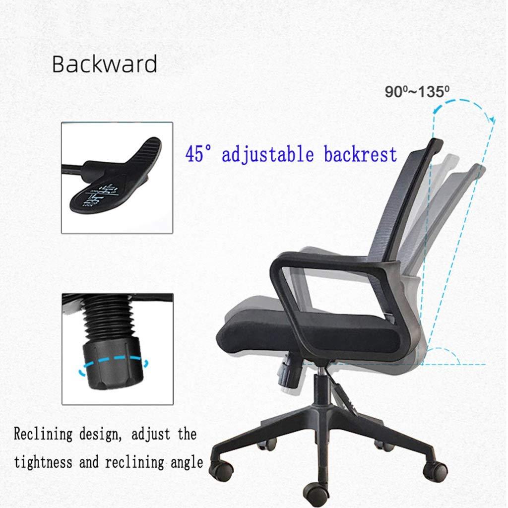 ZZHZY BBGS kontorsstol mesh kontorsstol ergonomisk datorstol med justerbara rullstolar för svankstöd (färg: Latexkudde) Vårkudde