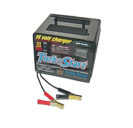 Turbostart agm25 a19 V AGM serie 16-volt Cargador de batería ...