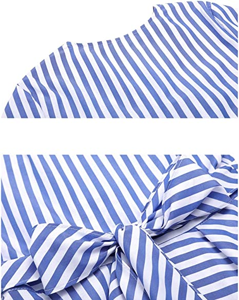 Camisa De Rayas Irregulares para Mujer, Blusa De Manga Larga con ...