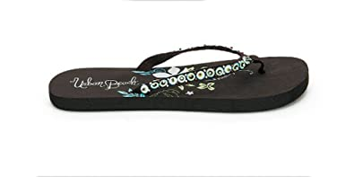 a426edc059da WOMENS GIRLS SPARKLE URBAN BEACH FLIP FLOPS TOE POSTS SUMMER SANDALS GYM  HOLIDAYS LADIES BROWN