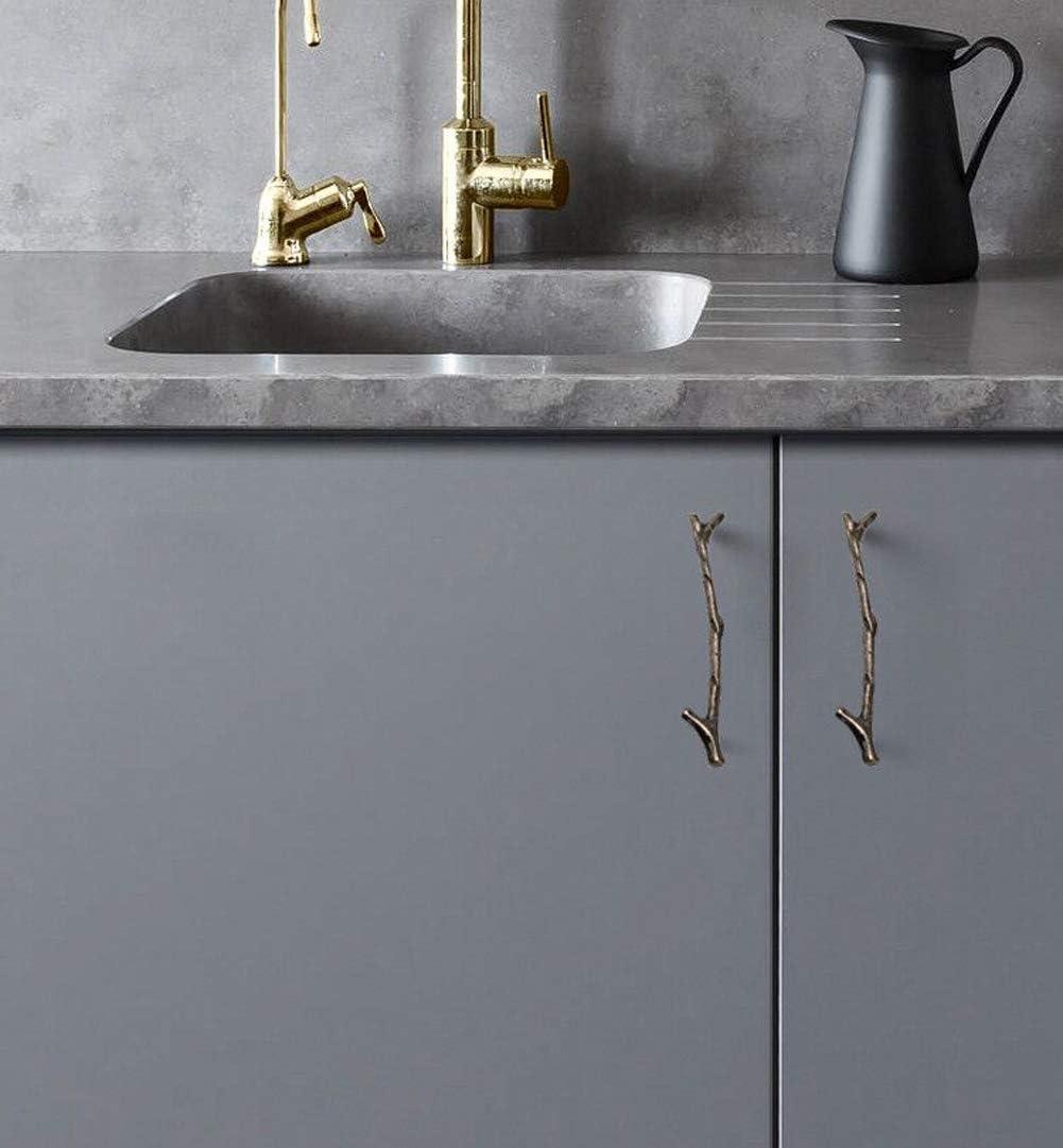 10 Pack Silver Twig Knobs Branch Zinc Alloy Decorative Cabinet Wardrobe Furniture Door Drawer Knobs Pulls Handles Hardware