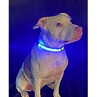 Durball - Collar para perro con LED recargable por USB, disponible en 6 colores y 6 tamaños, hace que tu perro sea…