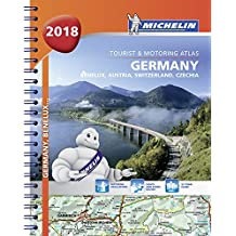 Germany, Benelux, Austria, Switzerland, Czech Republic 2018 - Tourist and Motoring Atlas (A4-Spiral) 2018