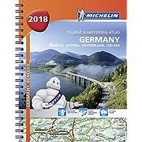 Germany, Benelux, Austria, Switzerland, Czech Republic 2018 - Tourist and Motoring Atlas (A4-Spiral) (Michelin Road Atlases)