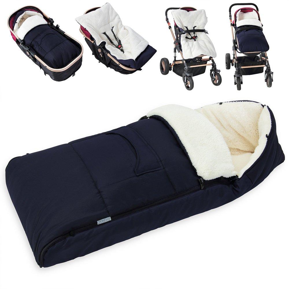 Monzana®, coprigambe, sacco a pelo per bambini per l'inverno, lavabile, con protezione dall'umidità e dal freddo, dotato di cappuccio e 5 spazi per la cintura sacco a pelo per bambini per l'inverno