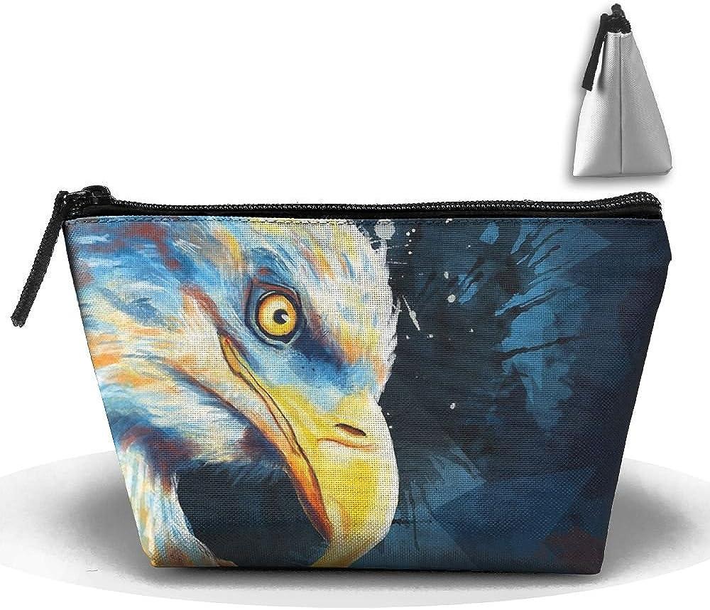 Rainbow Owl Painting Multifunction Portable Pouch Trapezoidal Storage Organizer Bag