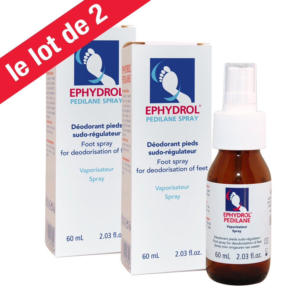 Lot de 2 EPHYDROL Vapo Spray 60 ml Laboratoire TRADIPHAR