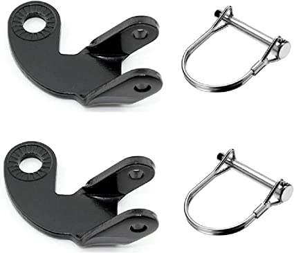 2 Set Bike Trailer Hitch Bicycle Stainless Steel 12.2MM-Hitch 90°Coupler
