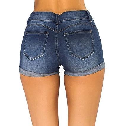 Amazon.com: Pantalones vaqueros para mujer con corte medio y ...