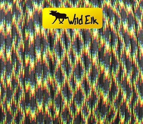 Wild Elk Paracorde Type III 7 brins Qualité commerciale Galaxie Diamètre 4 mm 30,5 m