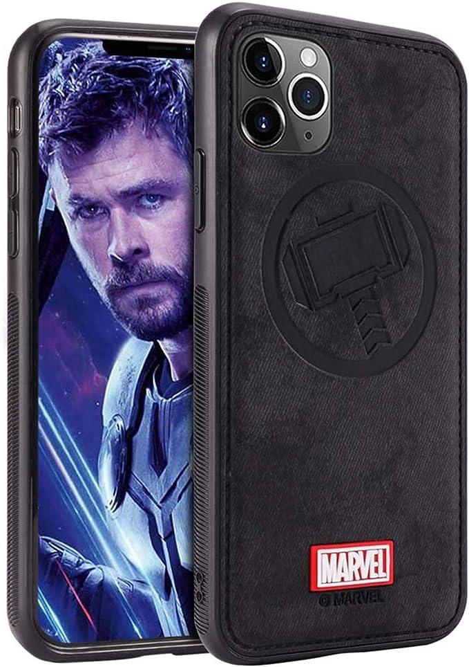 Marvel Avengers Coque iPhone 11 Pro Max, Case pour Apple iPhone 11 Pro Max 6,5 Pouces, Thor, Black