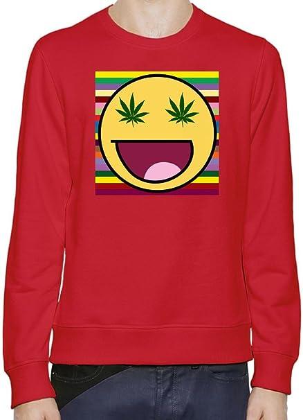 Smile Marihuana Eyes Slogan Hombres sudadera XX-Large: Amazon.es: Ropa y accesorios