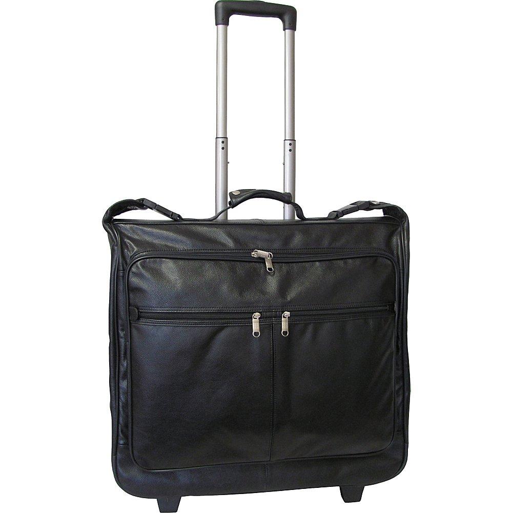 AmeriLeather Wheeled Leather Garment Bag (Black)
