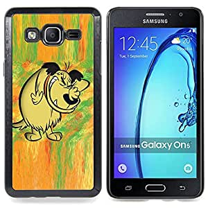 """Qstar Arte & diseño plástico duro Fundas Cover Cubre Hard Case Cover para Samsung Galaxy On5 O5 (Cuento de hadas del bosque cómico dibujo dibujos animados de perro"""")"""