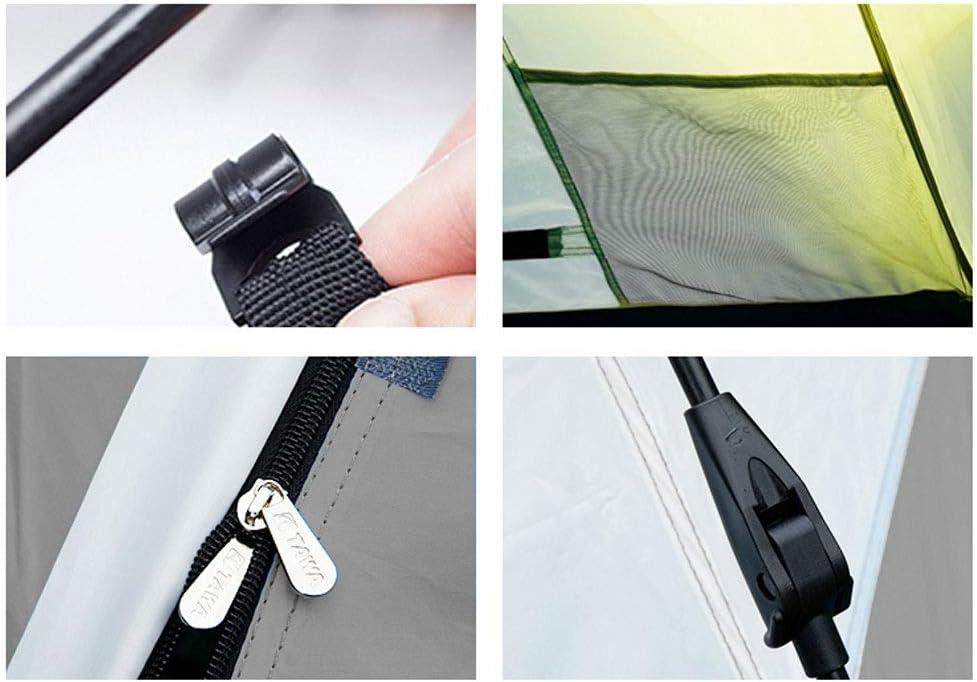 WANG XIN Apertura rápida automática Espesar Acampar portátil a Prueba de Agua Tienda al Aire Libre Ventilación Durable Fácil de Instalar rápidamente Verde