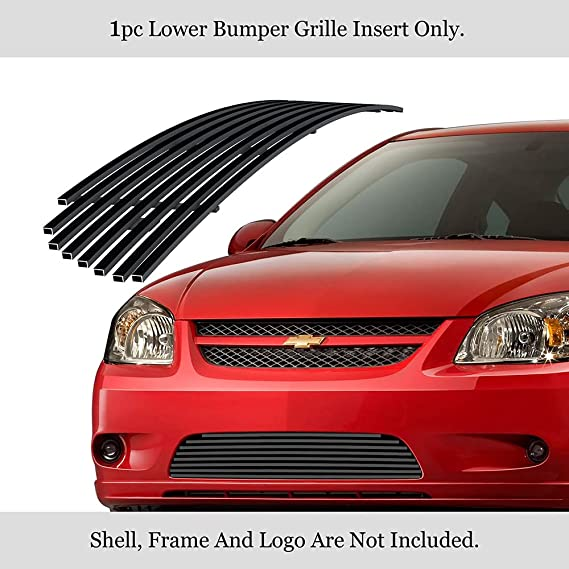 APS Compatible with 2004-2008 Crossfire Lower Bumper Aluminum Chrome Horizontal Billet Grille Insert R66526A