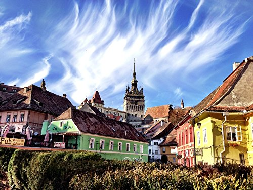 Home Comforts Peel-n-Stick Poster of Halloween Sighisoara Dracula's Birthplace Romania Poster 24x16 Adhesive Sticker Poster Print