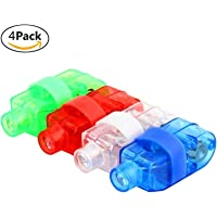 Prime Set of 4 Ring Laser Light, Laser Beam Torch for Dance Party and Kids Gift Item, Multi Color, Pack of 1