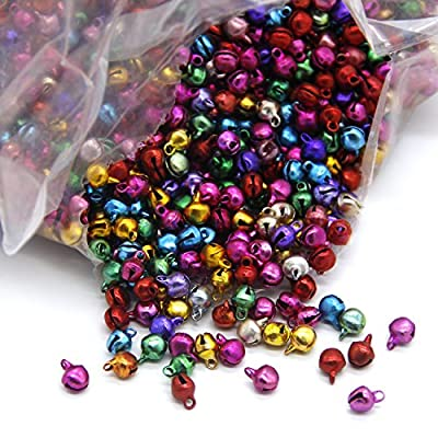 Coolrunner 6mm Different Color Assorted Fashion Jingle Bell/ Small Bell/ Mini Bell for DIY Bracelet Anklets Necklace Knitting/ Jewelry Making Accessories 100pcs