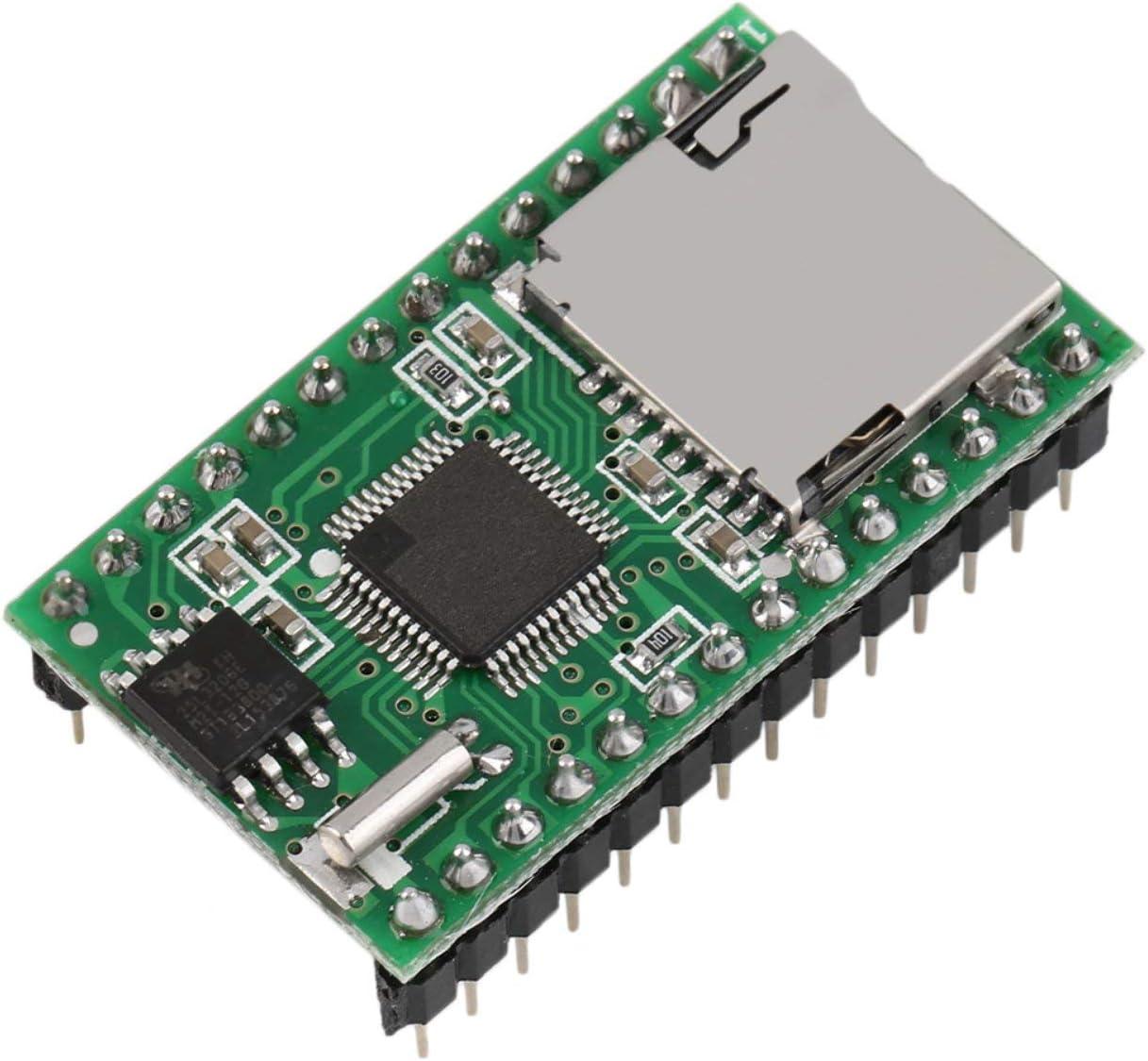 Sound Module WT5001M02-28P U-Disk Audio Player Card Voice Module MP3 Sound for Arduino Green