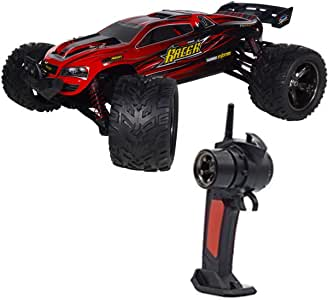 Babrit Remote Control car, F11 High Speed 1/12 Scale RC Car 2.4Ghz 2WD Remote Control Trucks Remote Control Off Road Truck Off-Road 40+KM/H-Red Color