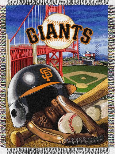 MLB San Francisco Giants Acrylic Tapestry Throw Blanket