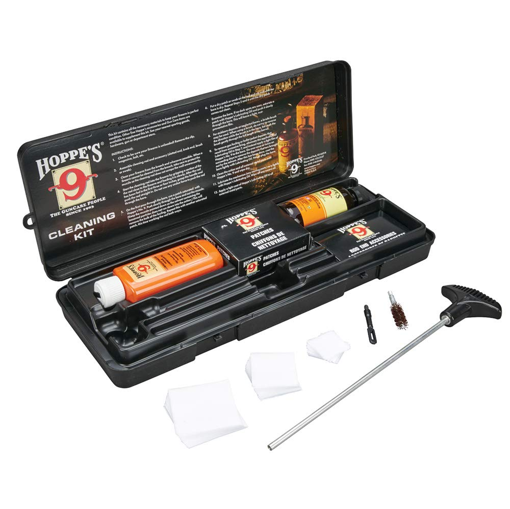 Hoppe's No. 9 Cleaning Kit with Aluminum Rod, .38/.357 Caliber, 9mm Pistol by HOPPE'S