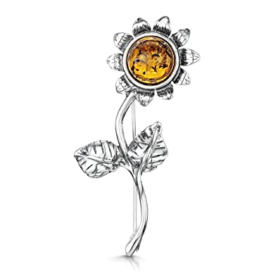 Amberta 925 Sterling Silver with Baltic Amber Y71oqjC6Qn