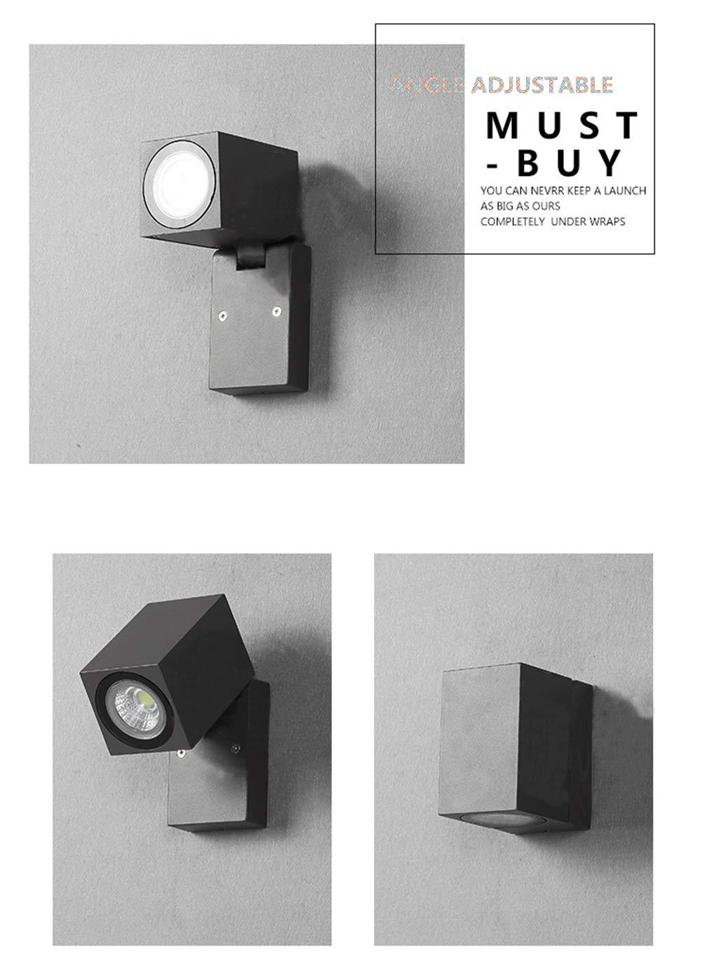 MEIYANG Lampada da Parete per Esterni Lampada da Parete Impermeabile per Esterni con Illuminazione dimmerabile [Livello di energia A],Warmbiancalight
