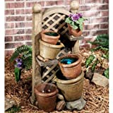 Touch of Class Garden Pots Indoor Outdoor Lighted Water Fountain Yard Porch Deck Home Decor