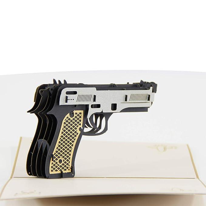 DL Furniture - Tarjeta de felicitación 3D para Pistol, Call ...