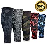 Compression Calf Sleeves (1 Pair) Leg Compression Socks for Shin Splints & Calf Pain Relief, Perfect for Men Women Runners Cycling, Improve Performance, Circulation & Recovery (Camo Marine, Small)