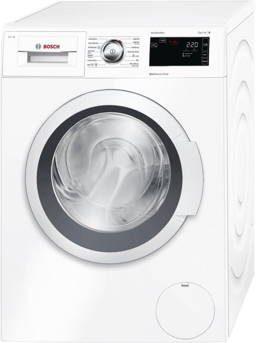 Bosch Serie 6 WAT28660EE Independiente Carga frontal 8kg 1400RPM A+++-30% Blanco - Lavadora (Independiente, Carga frontal, Blanco, Izquierda, LED, Blanco)