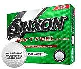Srixon Soft Feel Personalized Golf Balls - Add Your Own Text (12 Dozen) - White