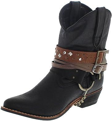 Durango Boots Accessorize Bootie DRD0120 Black/Damen Westernstiefelette Schwarz/Damenstiefelette/Fashion Stiefelette, Groesse:37 (6 US)