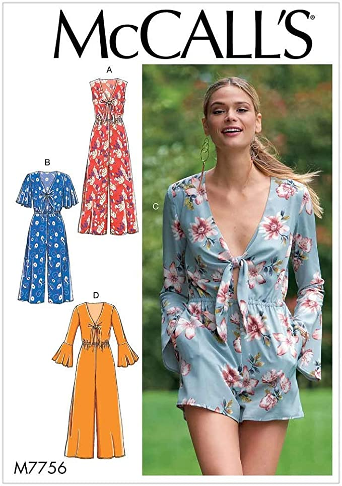 1-2-3 4-5-6 McCalls Sewing Pattern 7767 Jumpsuits OS