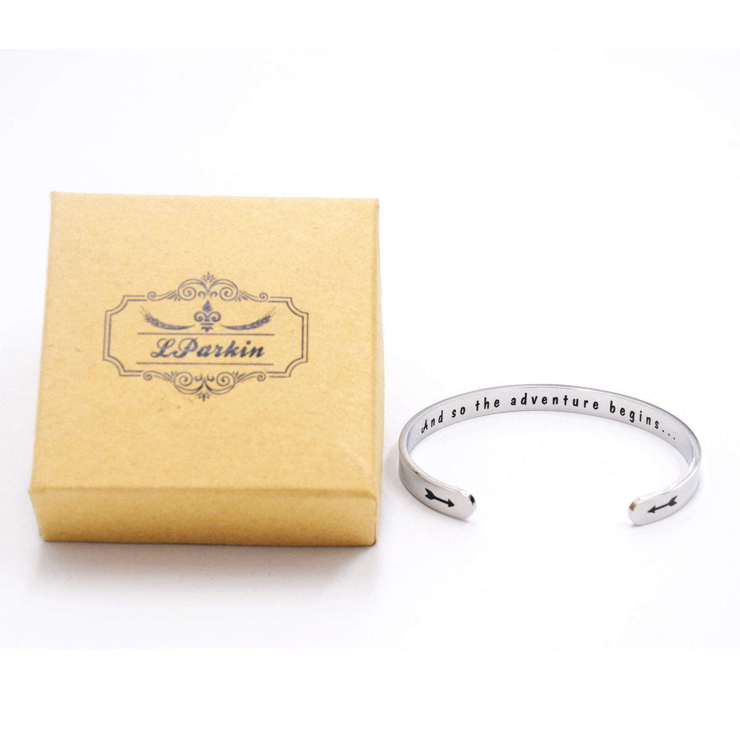 LParkin Class of 2018 2019 Gift And So the Adventure Begins Cuff Bracelet Graduation Gift (Cuff) by LParkin (Image #5)