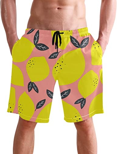 visesunny New Mens Beach Shorts Summer Swim Trunks Sports Running Bathing Suits with Mesh Lining S-XXL
